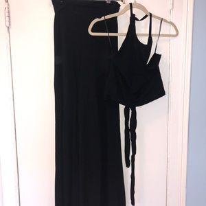 Zara black two piece set